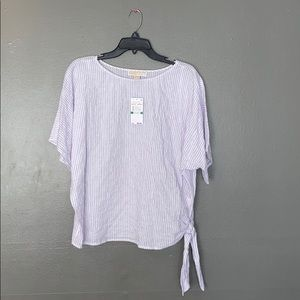 NWT Micheal micheal kors stripped boxy top